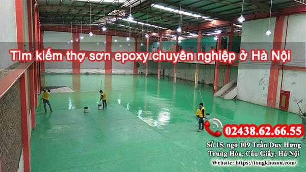 Tìm kiếm thợ sơn epoxy chuyên nghiệp ở Hà Nội