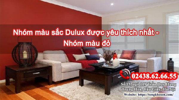 Nhóm màu sắc Dulux được yêu thích nhất- Nhóm màu đỏ