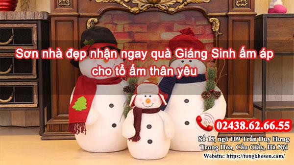 Sơn nhà đẹp nhận ngay quà Giáng Sinh ấm áp cho tổ ấm thân yêu