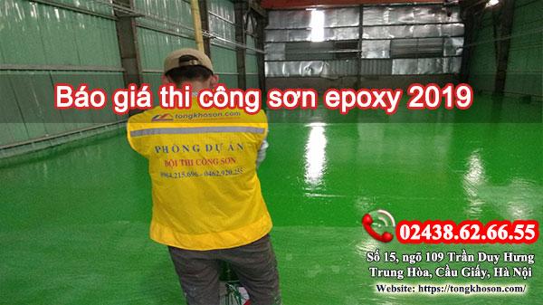 Báo giá thi công sơn epoxy 2019