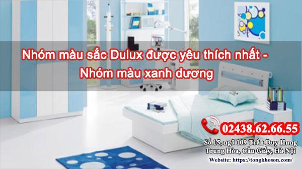 Nhóm màu sắc Dulux được yêu thích nhất: màu xanh dương