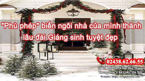 """""""Phù phép"""" biến ngôi nhà của mình thành lâu đài Giáng sinh tuyệt đẹp"""