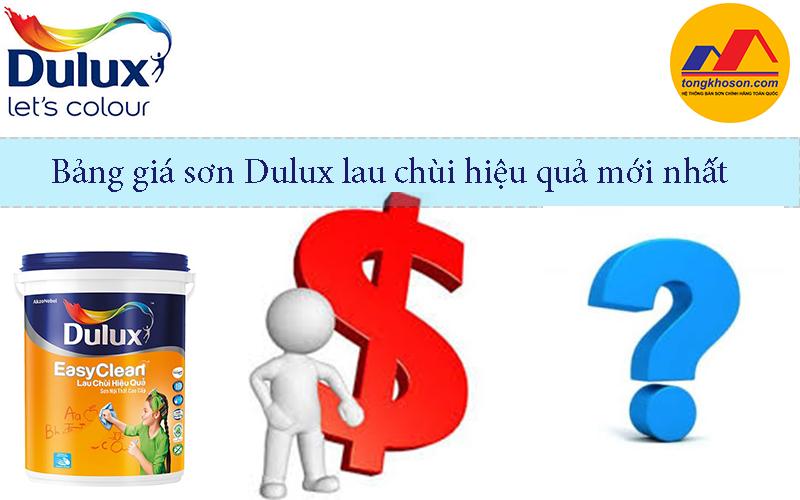 Bảng giá sơn Dulux Lau chùi Hiệu quả mới nhất tại Hà Nội