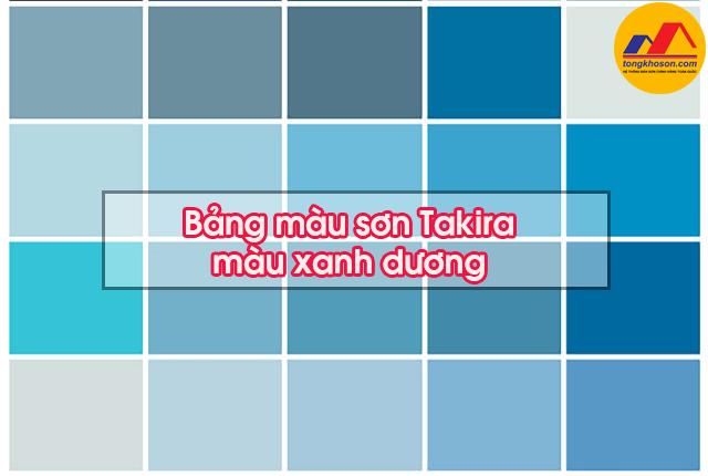 Bảng màu sơn Takira màu xanh dương