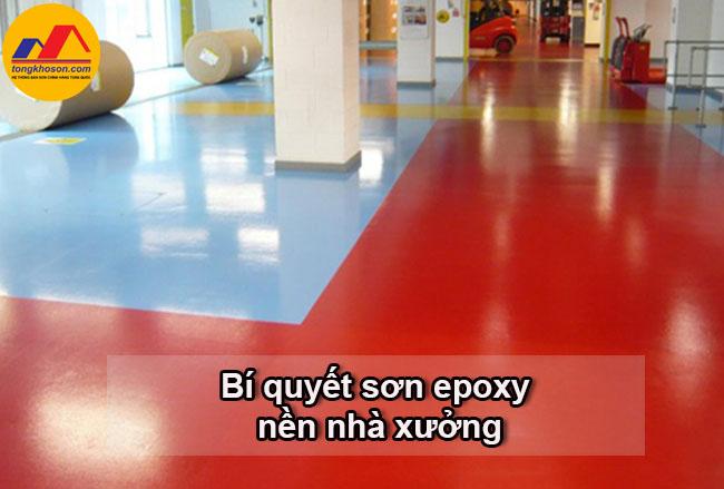 Bí quyết sơn epoxy cho sàn nhà xưởng đẹp, chất lượng