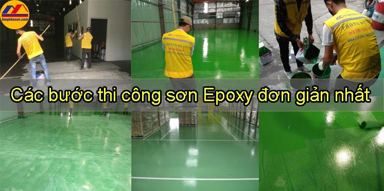 Các bước thi công sơn Epoxy đơn giản nhất