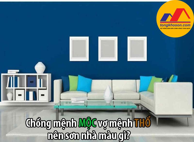 Chồng mệnh Mộc vợ mệnh Thổ nên sơn nhà màu gì?