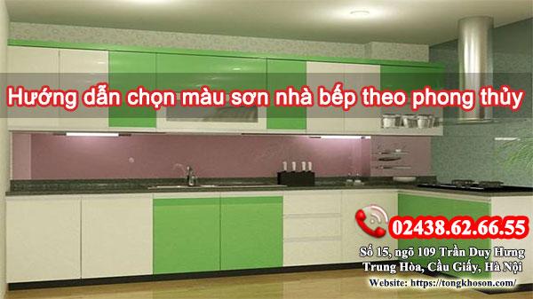 Hướng dẫn chọn màu sơn phòng bếp theo phong thủy