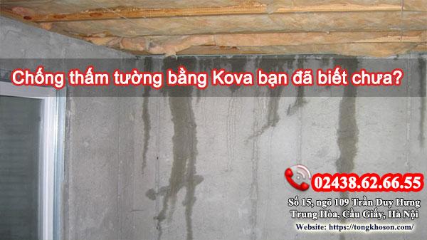 Chống thấm tường bằng Kova bạn đã biết chưa?
