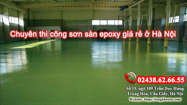Chuyên thi công sơn sàn epoxy giá rẻ ở Hà Nội