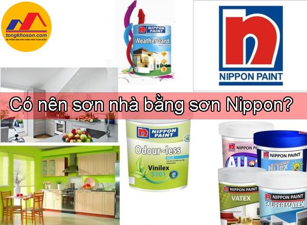 Có nên sơn nhà bằng sơn Nippon?