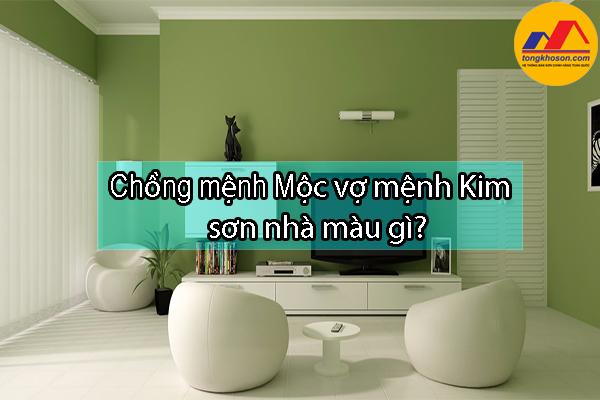 Chồng mệnh Mộc vợ mệnh Kim sơn nhà màu gì?