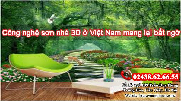 Công nghệ sơn nhà 3D ở Việt Nam mang lại bất ngờ