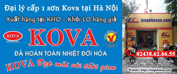 Đại lý cấp 1 sơn Kova tại Hà Nội