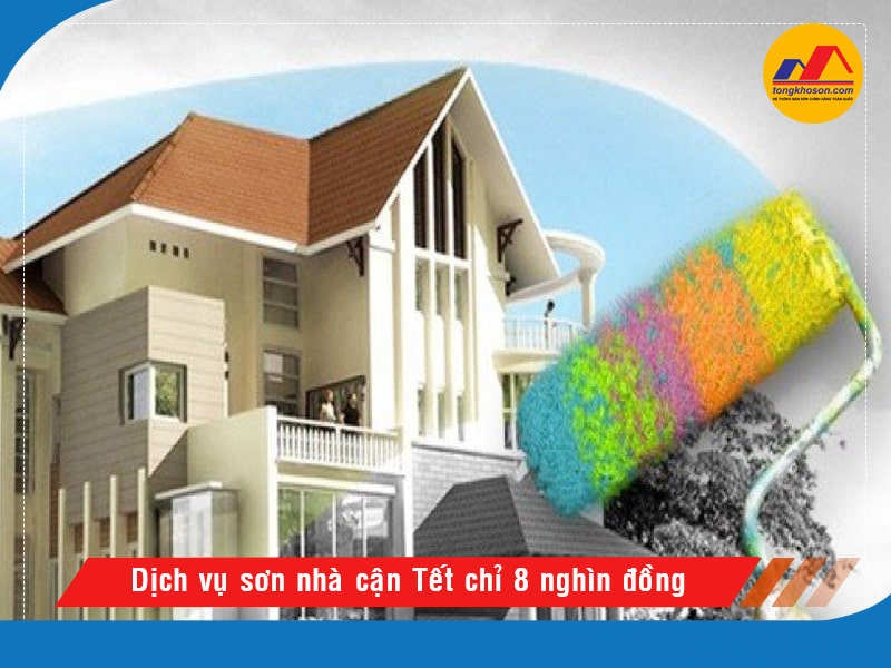 Dịch vụ sơn nhà cận Tết chỉ từ 10 nghìn đồng