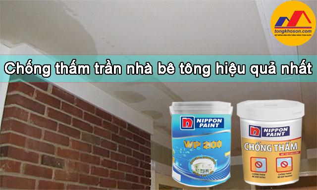 Giải pháp chống thấm trần nhà bê tông hiệu quả nhất