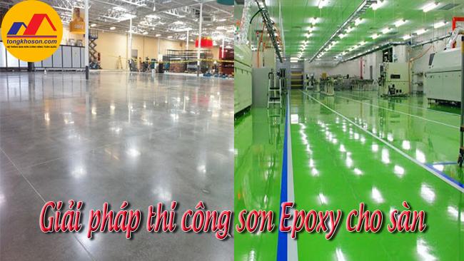 Giải pháp thi công sơn epoxy sàn nhà xưởng thay thế sàn bê tông