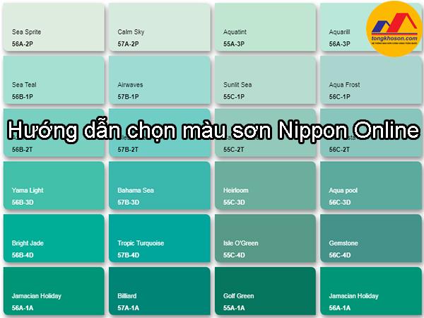 Hướng dẫn chọn màu sơn Nippon Online