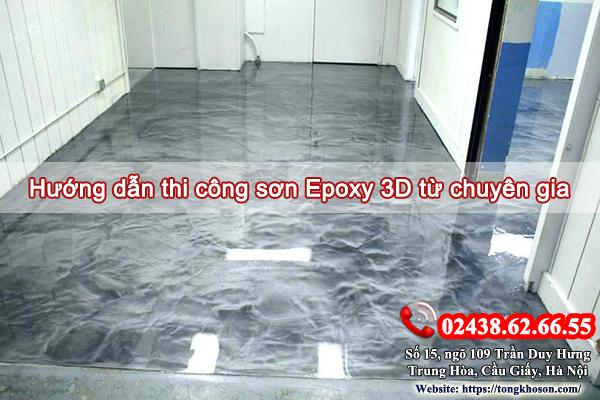 Hướng dẫn thi công sơn sàn 3D từ chuyên gia
