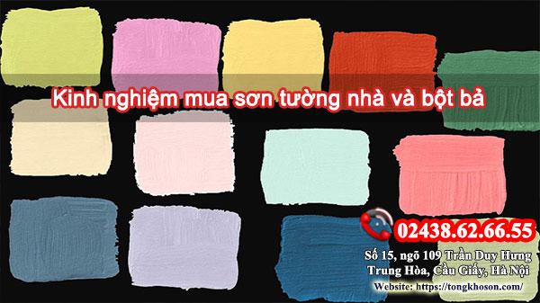 Kinh nghiệm mua sơn tường nhà và bột bả