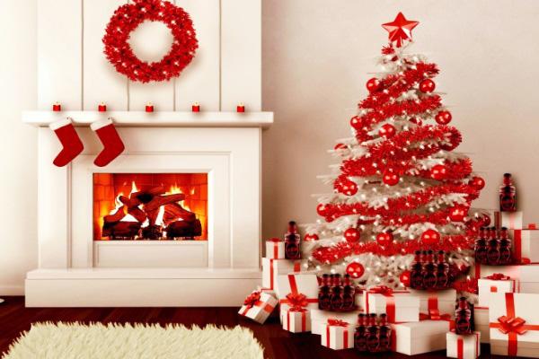 Ý tưởng trang trí Giáng sinh cho phòng khách tuyệt đẹp