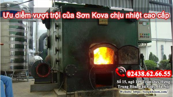 Ưu điểm vượt trội của sơn Kova chịu nhiệt cao cấp