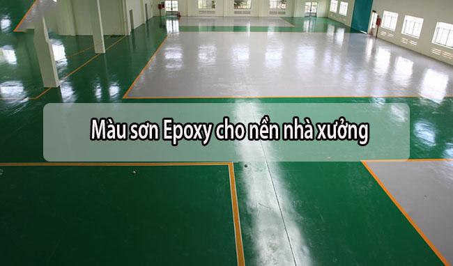 Màu sơn epoxy sàn nhà xưởng