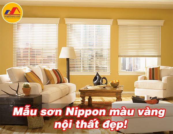 Mẫu sơn Nippon màu vàng nội thất đẹp
