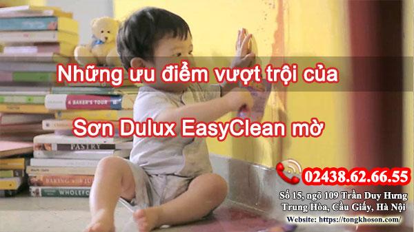 Những ưu điểm vượt trội của sơn Dulux EasyClean mờ