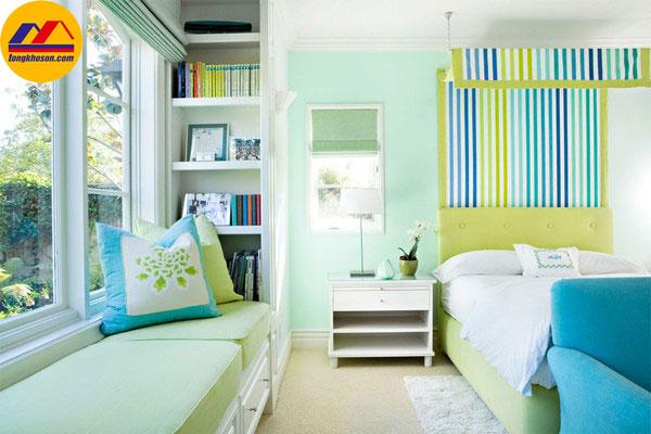 Cách phối màu sơn nhà nội thất làm tăng diện tích phòng