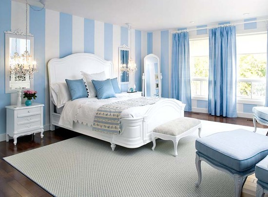 Phòng ngủ ý tưởng với sắc xanh lam