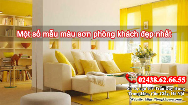 Một số mẫu màu sơn phòng khách đẹp nhất
