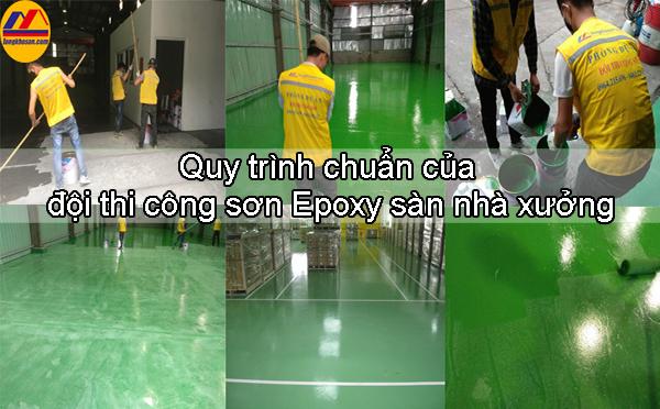 Quy trình chuẩn của đội thi công sơn Epoxy sàn nhà xưởng