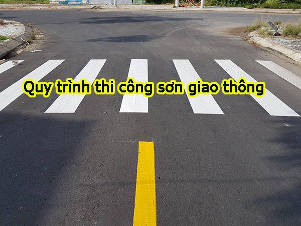 Quy trình thi công sơn giao thông