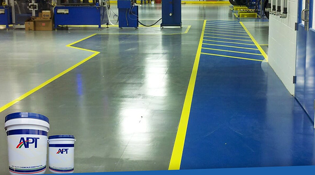 Sử dụng sơn epoxy Apt cho sàn nhà xưởng hiệu quả