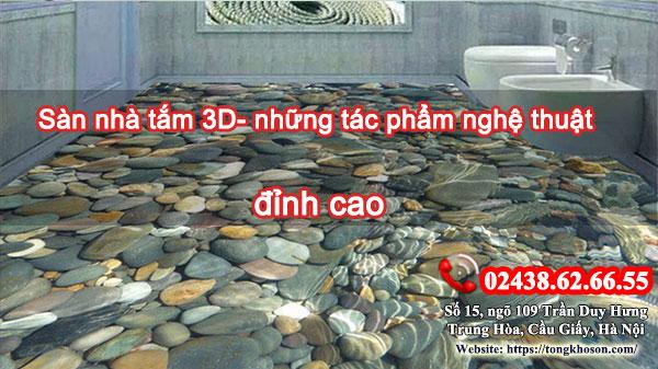 Sàn nhà tắm 3D- những tác phẩm nghệ thuật đỉnh cao