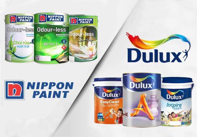 Nên dùng sơn Dulux hay Nippon để sơn nhà?