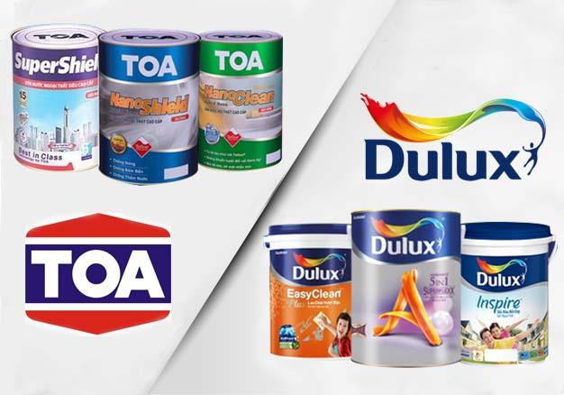 So sánh sơn Toa và Dulux