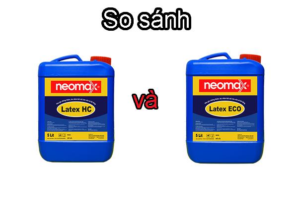 So sánh phụ gia chống thấm Neomax Latex HC và Latex Eco