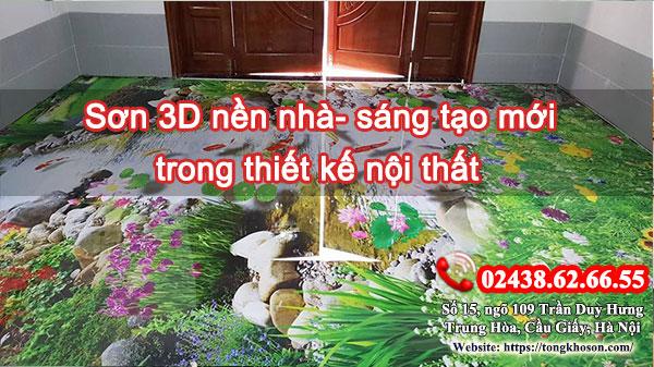 Sơn 3D nền nhà- sáng tạo mới trong thiết kế nội thất