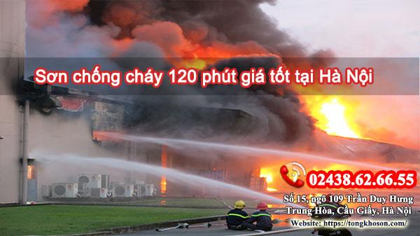 Sơn chống cháy 120 phút giá tốt tại Hà Nội