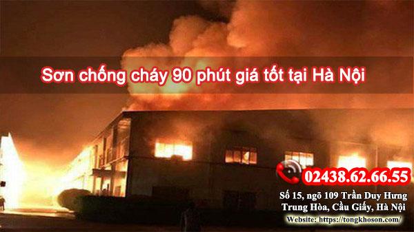 Sơn chống cháy 90 phút giá tốt tại Hà Nội