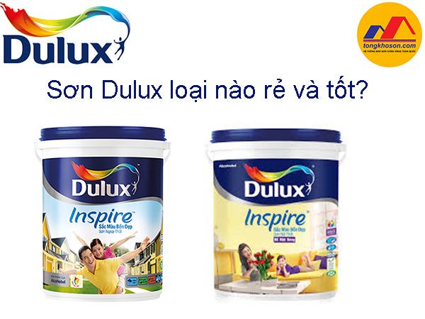 Sơn Dulux loại nào rẻ và tốt?