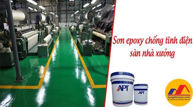 Sử dụng sơn epoxy chống tĩnh điện cho sàn nhà xưởng