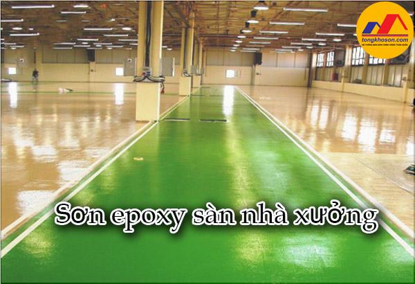 Sơn epoxy sàn nhà xưởng và các loại sơn epoxy