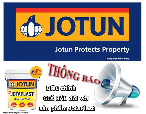 Sơn Jotun thông báo điều chỉnh giá bán sản phẩm sơn JotaPlast