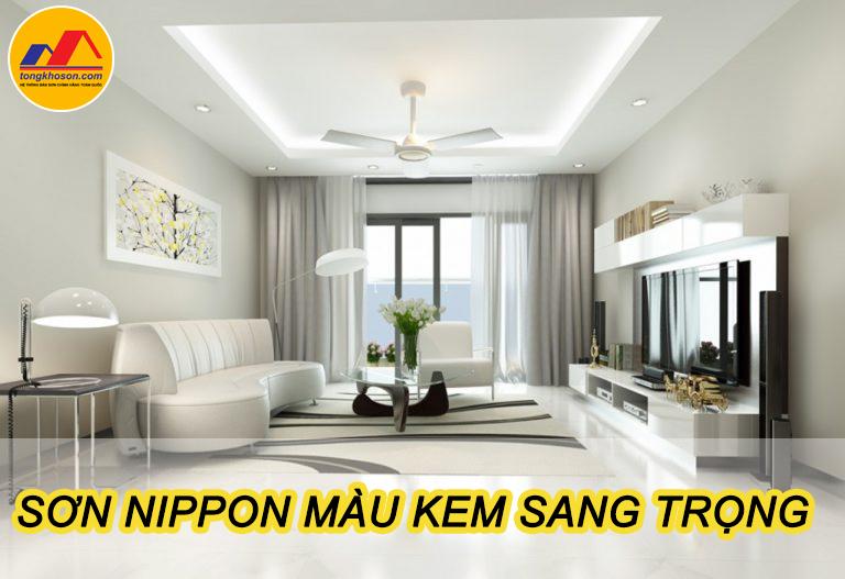 Sơn Nippon màu kem lựa chọn tuyệt với cho gia đình bạn