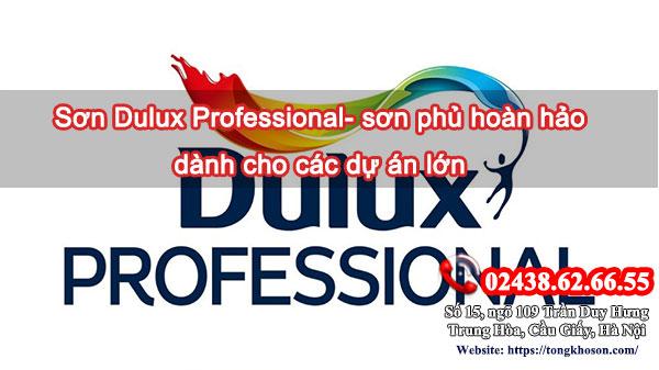 Sơn Dulux professional- sơn phủ hoàn hảo dành cho các dự án lớn