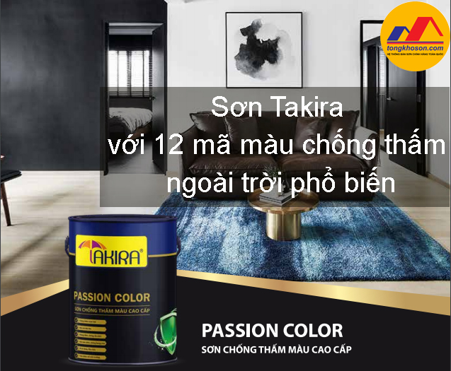 Sơn Takira với 12 mã màu chống thấm ngoài trời phổ biến nhất hiện nay