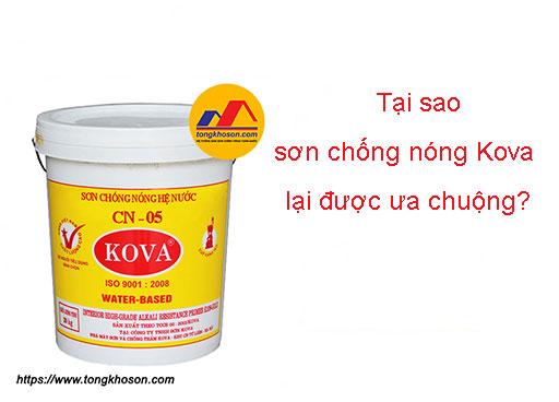 Tại sao sơn chống nóng Kova lại được ưa chuộng?